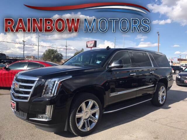 2016 Cadillac Escalade ESV for sale at Rainbow Motors in El Paso TX