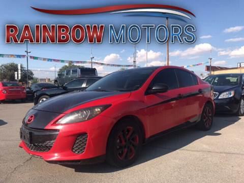 2012 Mazda MAZDA3 for sale at Rainbow Motors in El Paso TX