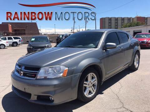 2013 Dodge Avenger for sale at Rainbow Motors in El Paso TX
