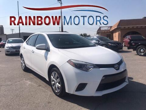 2015 Toyota Corolla for sale at Rainbow Motors in El Paso TX