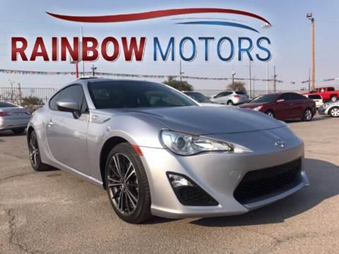 2015 Scion FR-S for sale at Rainbow Motors in El Paso TX