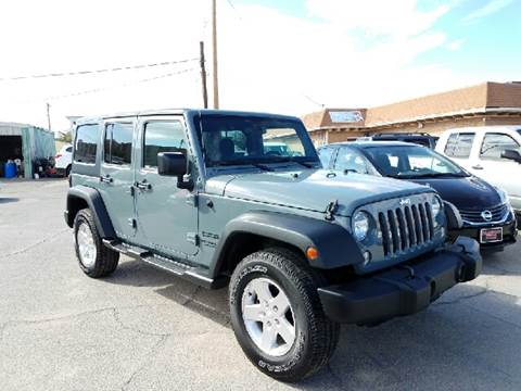2014 Jeep Wrangler Unlimited for sale at Rainbow Motors in El Paso TX