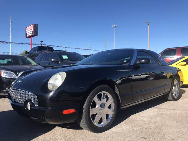 2002 Ford Thunderbird for sale at Rainbow Motors in El Paso TX