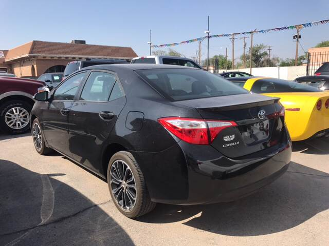 2015 Toyota Corolla for sale at Rainbow Motors in El Paso TX