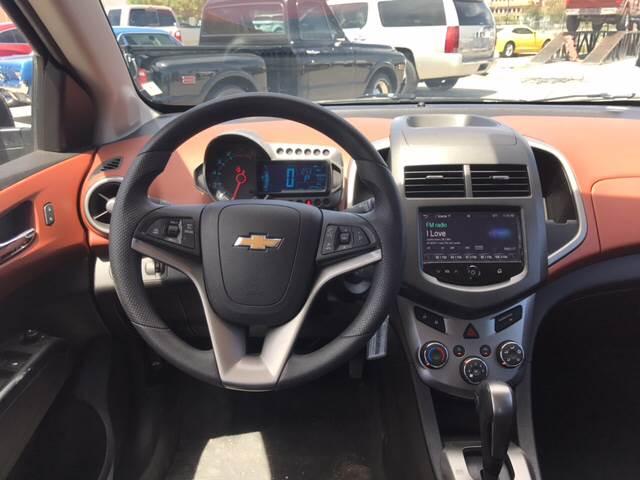 2016 Chevrolet Sonic for sale at Rainbow Motors in El Paso TX