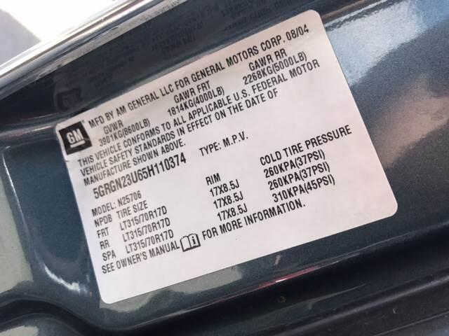 2005 HUMMER H2 for sale at Rainbow Motors in El Paso TX