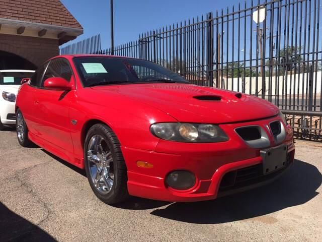 2005 Pontiac GTO for sale at Rainbow Motors in El Paso TX