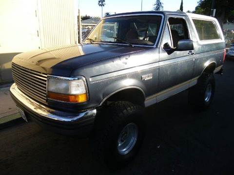 1992 Ford Bronco for sale at Crow`s Auto Sales in San Jose CA