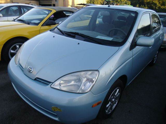 2002 TOYOTA PRIUS 4-DOOR SEDAN blue abs brakesair conditioningalloy wheelsamfm radioanti-bra