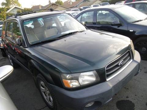 2003 Subaru Forester for sale at Crow`s Auto Sales in San Jose CA