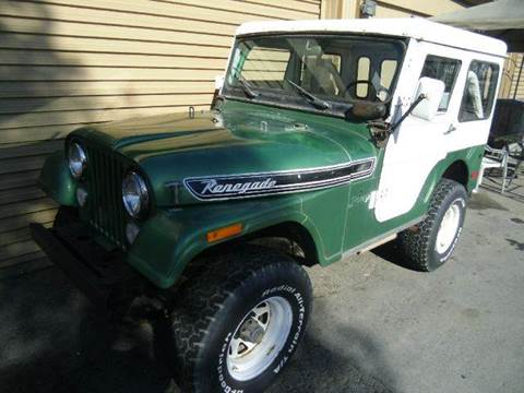 1973 Jeep Renegade for sale at Crow`s Auto Sales in San Jose CA