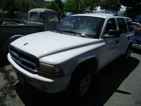 2002 Dodge Durango for sale at Crow`s Auto Sales in San Jose CA