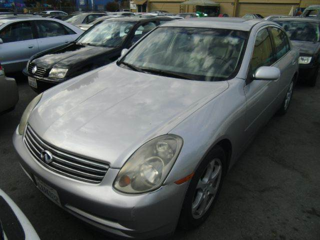 2003 INFINITI G35 LUXURY 4DR SEDAN WLEATHER silver abs - 4-wheel alloy wheels aluminum accents