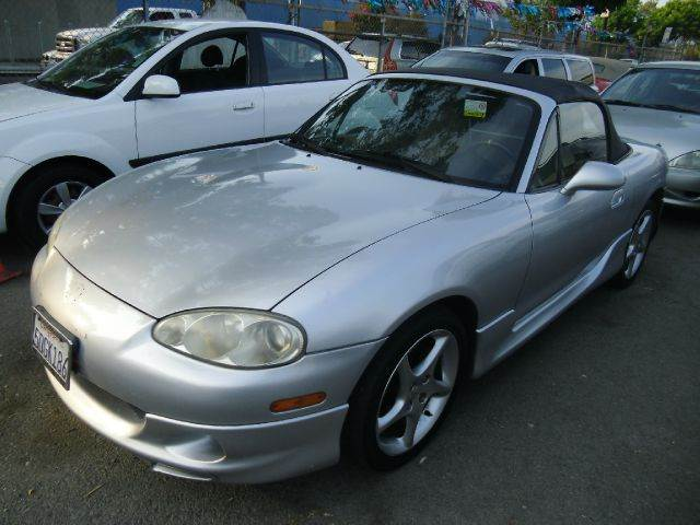 2003 MAZDA MX-5 MIATA 2DR ROADSTER silver alloy wheels antenna type - power center console clo
