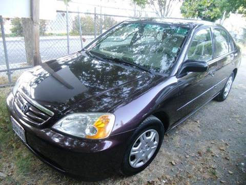 2001 Honda Civic for sale at Crow`s Auto Sales in San Jose CA