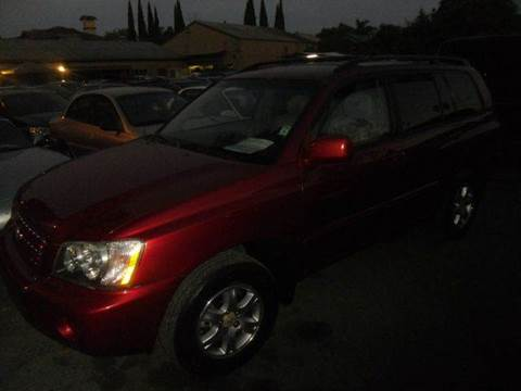 2001 Toyota Highlander for sale at Crow`s Auto Sales in San Jose CA