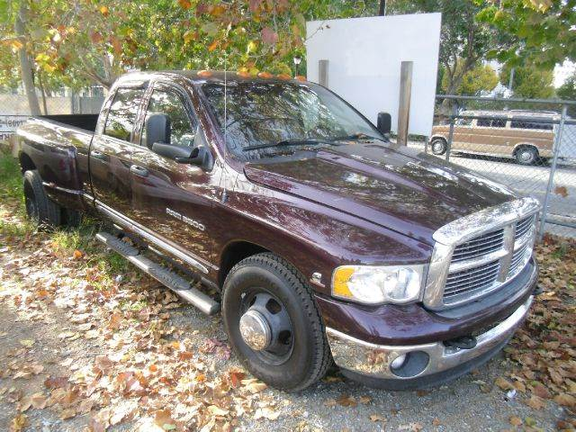 2004 DODGE RAM PICKUP 3500 SLT 4DR QUAD CAB RWD LB DRW maroon abs - 4-wheel axle ratio - 373 b