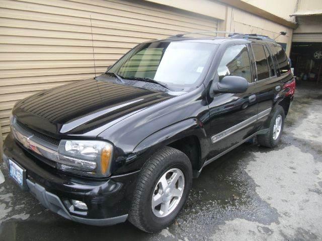 2002 CHEVROLET TRAILBLAZER LT 4WD 4DR SUV black abs - 4-wheel anti-theft system - alarm axle ra