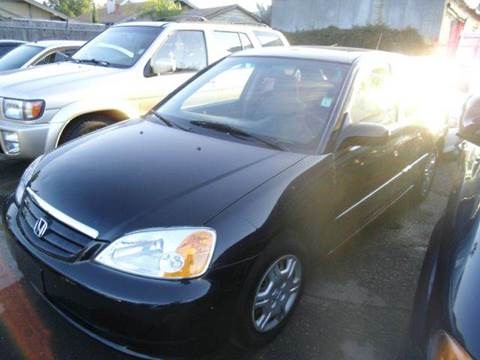 2002 Honda Civic for sale at Crow`s Auto Sales in San Jose CA