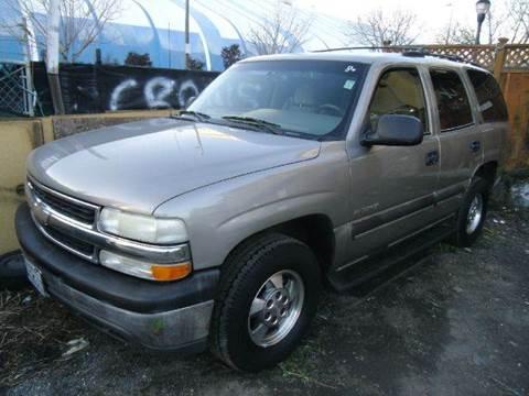 2002 Chevrolet Tahoe for sale at Crow`s Auto Sales in San Jose CA