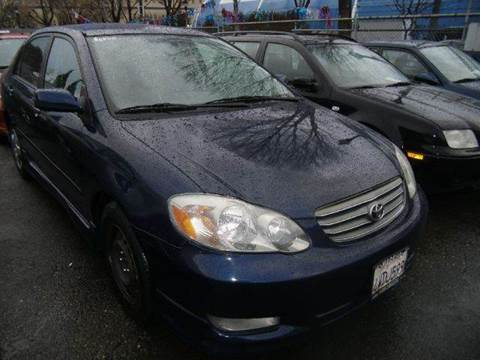 2003 Toyota Corolla for sale at Crow`s Auto Sales in San Jose CA