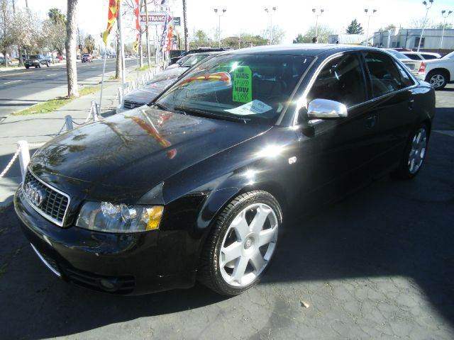 2005 AUDI S4 QUATTRO AWD 4DR SEDAN black abs - 4-wheel anti-theft system - alarm cassette cd c
