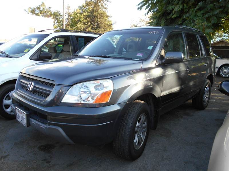 2003 HONDA PILOT EX-L 4DR 4WD SUV W LEATHER gray 4wd type - on demand abs - 4-wheel anti-theft