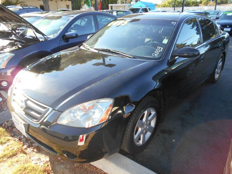 2003 NISSAN ALTIMA 25 SL 4DR SEDAN black anti-theft system - alarm cd changer center console