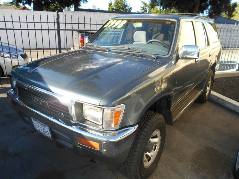 1990 TOYOTA 4RUNNER SR5 V6 4DR 4WD SUV green abs - rear front seat type - bucket pickup sliding