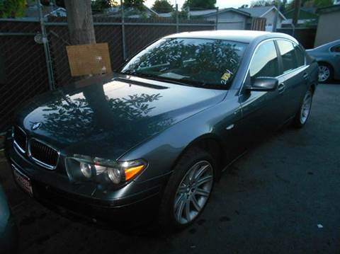 2004 BMW 7 Series for sale at Crow`s Auto Sales in San Jose CA