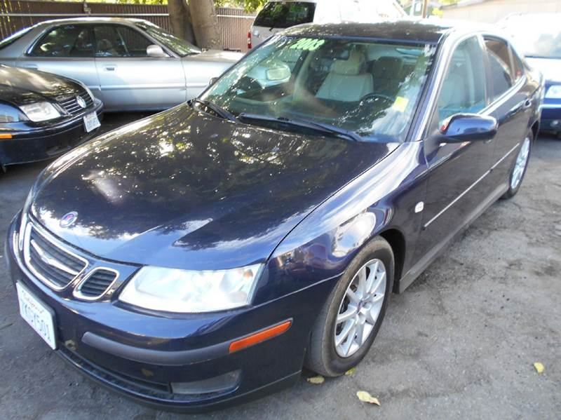 2003 SAAB 9-3 LINEAR 4DR TURBO SEDAN blue abs - 4-wheel anti-theft system - alarm center consol