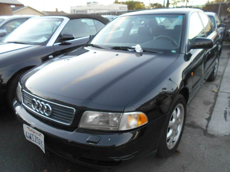 1998 AUDI A4 QUATTRO 28 AWD 4DR SEDAN black abs - 4-wheel anti-theft system - alarm cassette