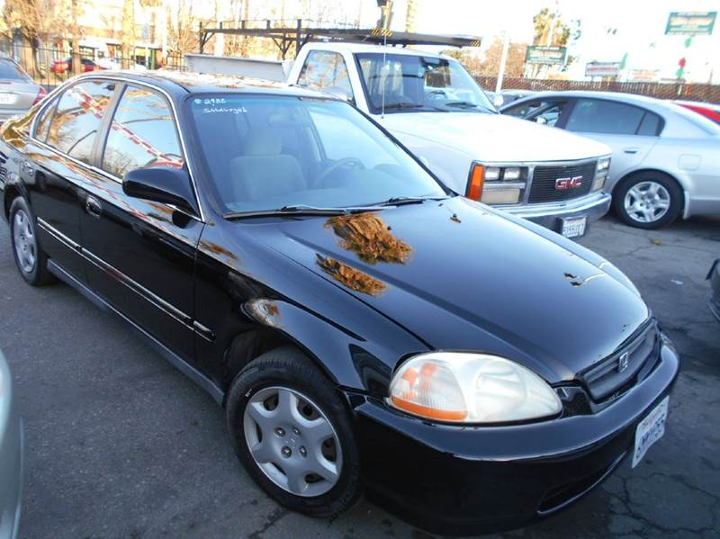1999 HONDA CIVIC LX 4DR SEDAN black center console cruise control front air conditioning front