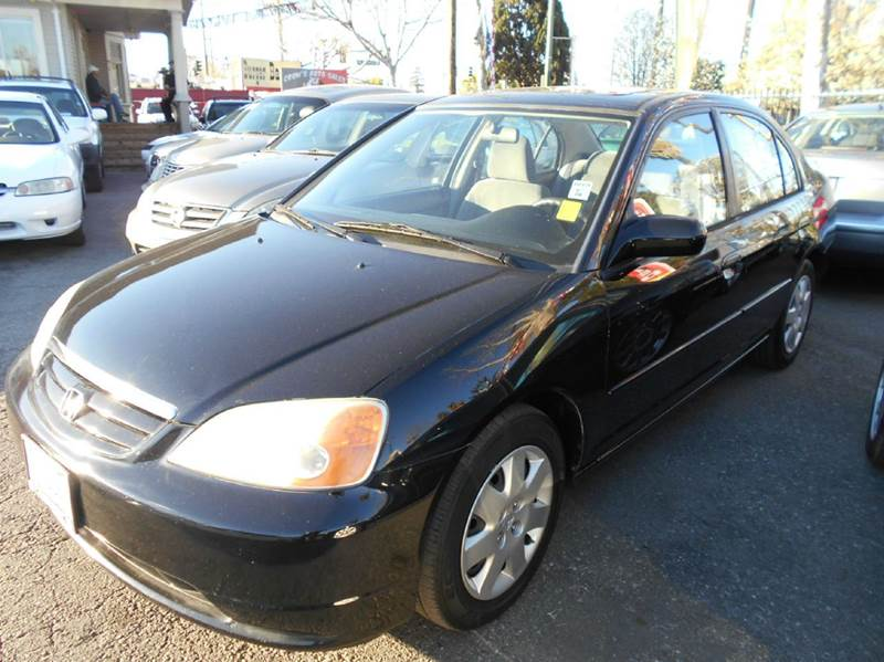 2002 HONDA CIVIC EX 4DR SEDAN black abs - 4-wheel anti-theft system - alarm clock cruise contr