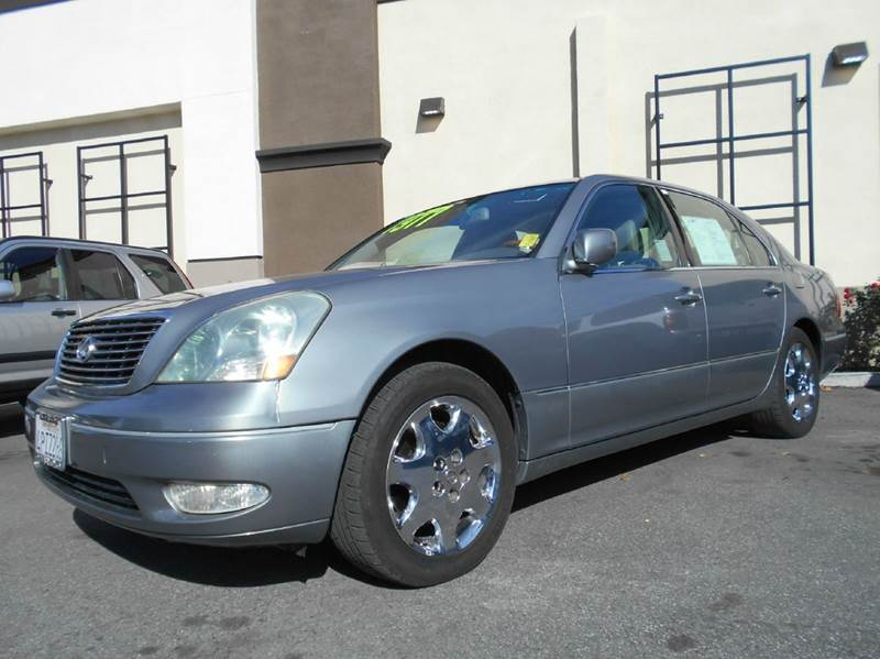 2001 LEXUS LS 430 BASE 4DR SEDAN blue abs - 4-wheel anti-theft system - alarm cassette cd chan
