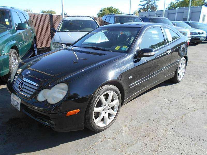 2003 MERCEDES-BENZ C-CLASS C230 KOMPRESSOR 2DR COUPE black abs - 4-wheel anti-theft system - ala