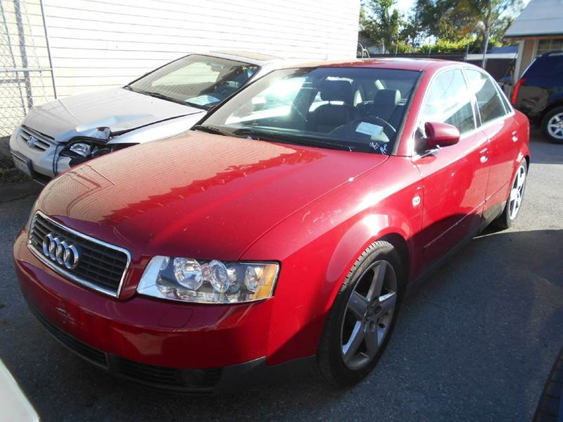 2003 AUDI A4 30 QUATTRO AWD 4DR SEDAN red abs - 4-wheel anti-theft system - alarm center conso