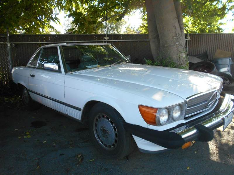 1988 MERCEDES-BENZ 560-CLASS 560SL 2DR CONVERTIBLE white abs - 4-wheel antenna type - power ant