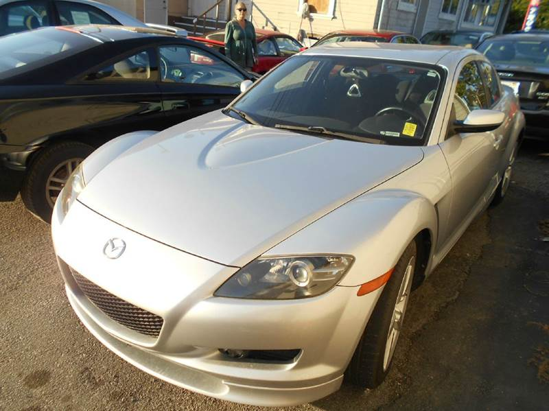 2004 MAZDA RX-8 BASE 4DR COUPE silver abs - 4-wheel anti-theft system - alarm center console c