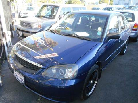 2003 Honda Civic for sale at Crow`s Auto Sales in San Jose CA