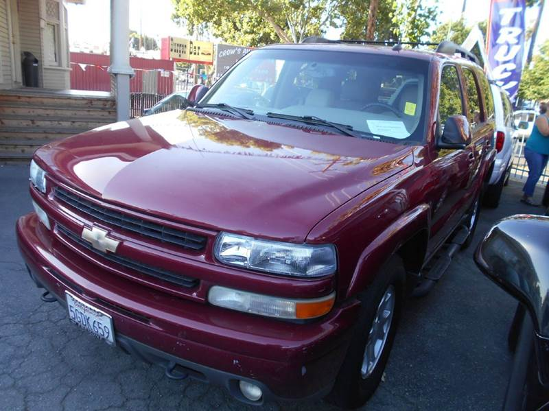 2004 CHEVROLET TAHOE Z71 4WD 4DR SUV red abs - 4-wheel anti-theft system - alarm axle ratio - 3