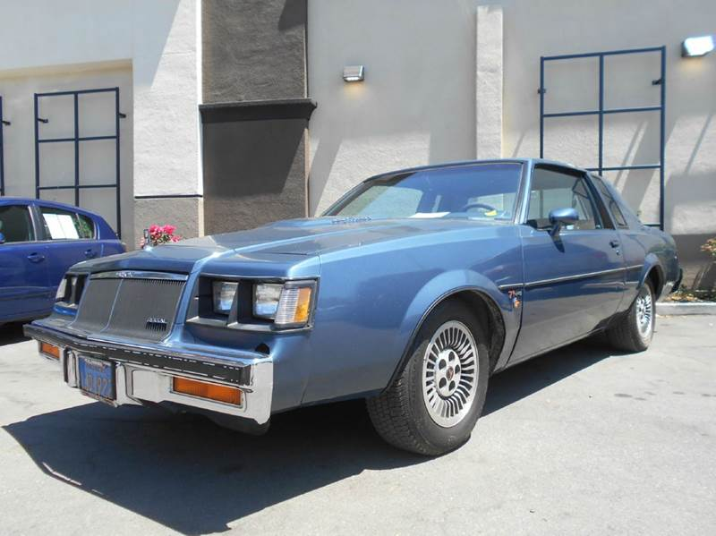 1984 BUICK REGAL T TYPE TURBO 2DR COUPE blue exterior entry lights front air conditioning front