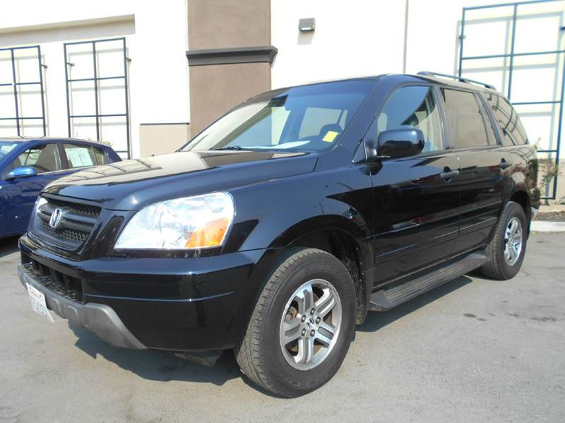 2005 HONDA PILOT EX-L 4DR 4WD SUV WLEATHER AND E black 4wd type - on demand abs - 4-wheel air