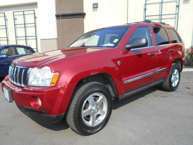 2005 JEEP GRAND CHEROKEE LIMITED 4DR 4WD SUV red 4wd type - full time abs - 4-wheel adjustable