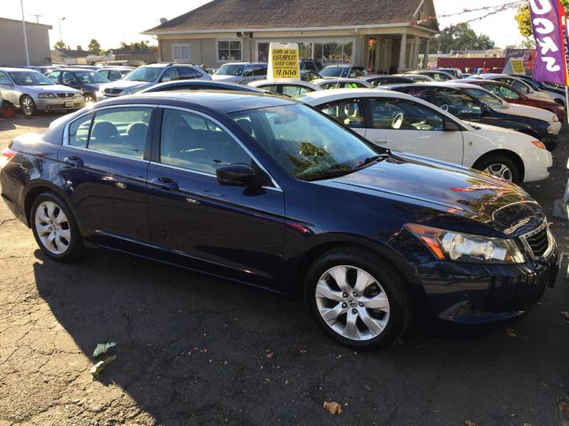 2008 HONDA ACCORD EX 4DR SEDAN 5A blue abs - 4-wheel active head restraints - dual front air fi