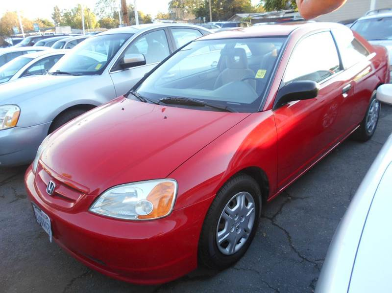 2001 HONDA CIVIC LX 2DR COUPE red anti-theft system - alarm cassette clock cruise control ext