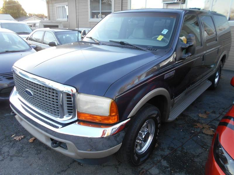 2000 FORD EXCURSION LIMITED 4DR SUV blue abs - 4-wheel axle ratio - 373 cassette center conso