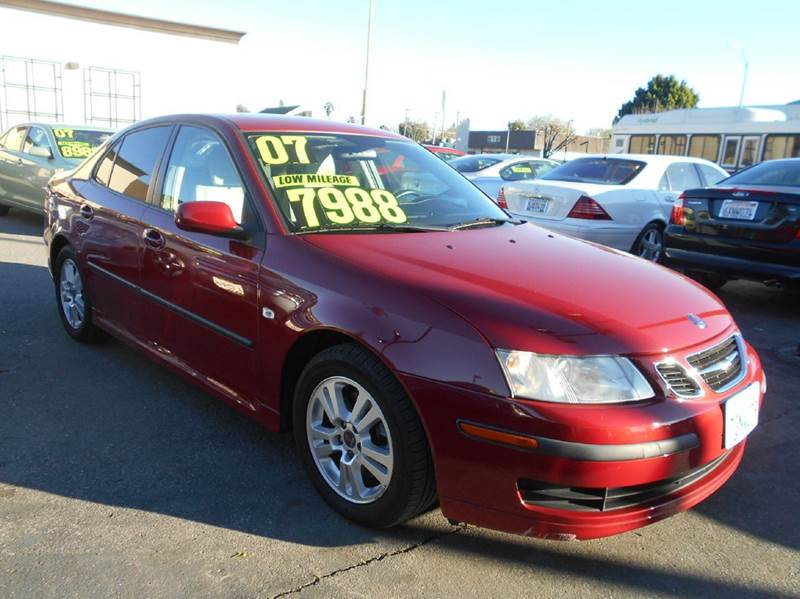 2007 SAAB 9-3 20T 4DR SEDAN red 2-stage unlocking doors abs - 4-wheel active head restraints -