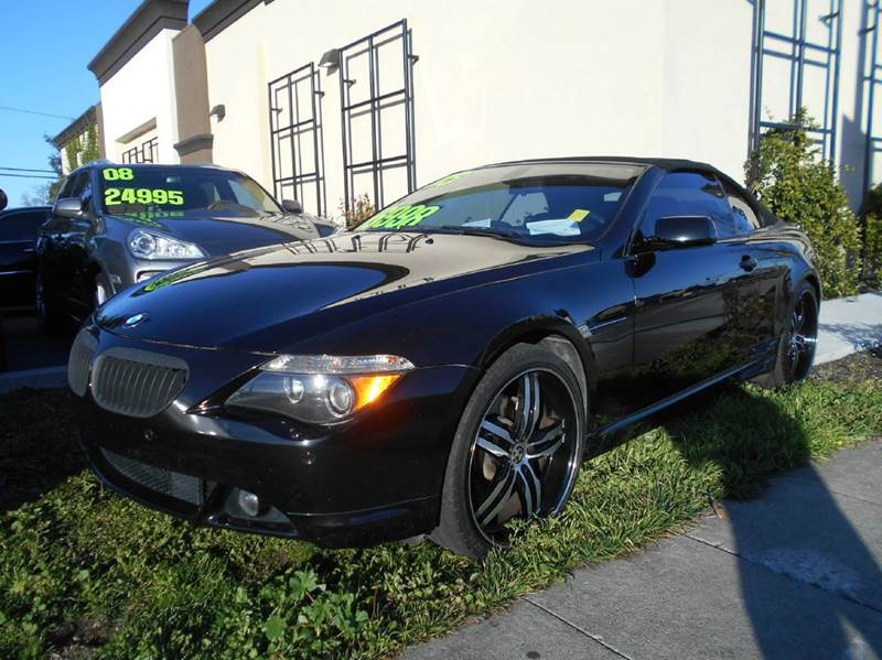 2006 BMW 6 SERIES 650I 2DR CONVERTIBLE black abs - 4-wheel active suspension air filtration an