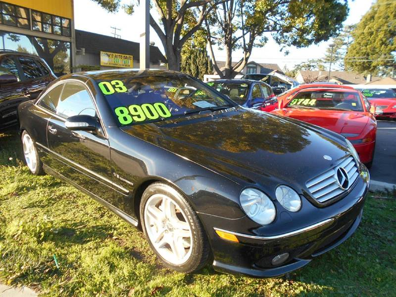 2003 MERCEDES-BENZ CL-CLASS CL 55 AMG 2DR COUPE black abs - 4-wheel anti-theft system - alarm c